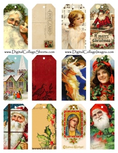 free printable vintage christmas tags