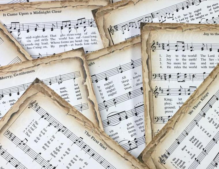 printable music sheet wrapping paper