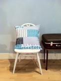 cushion on vintage chair