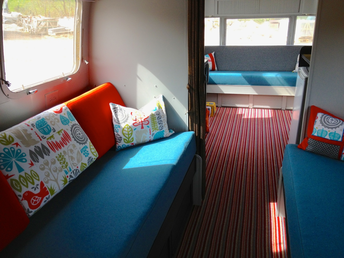 interior design of an airstream