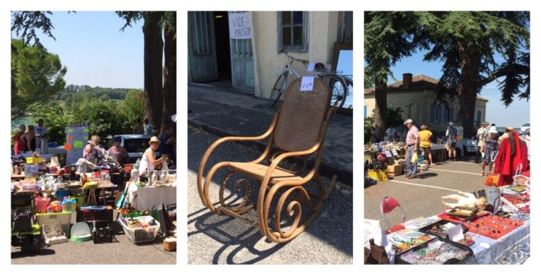 Brocante market near Auch,  Midi-Pyrenees