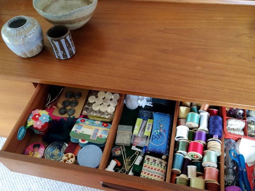 From cutlery drawer to sewing cupboard