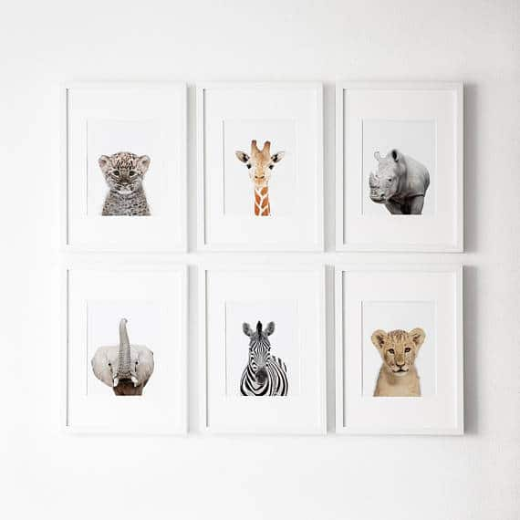 animal prints for kids room