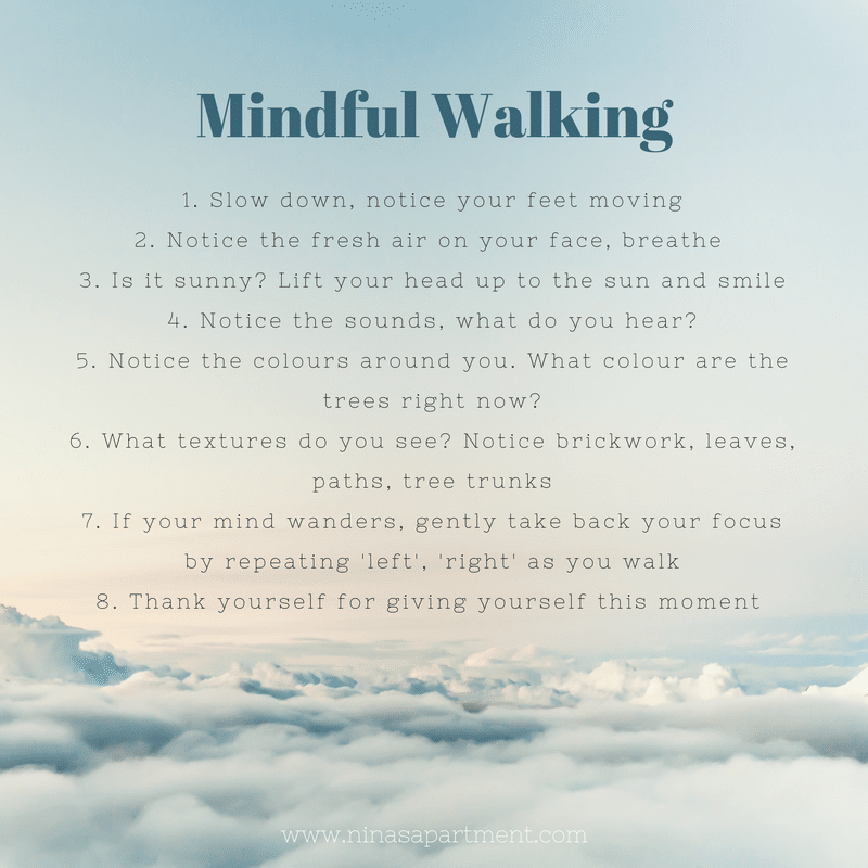 Mindful Walking. Eight tips on how to start