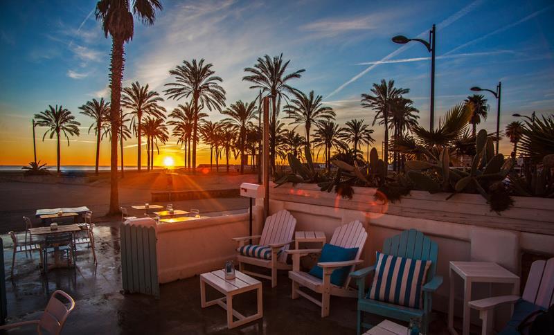 Playa Patacona Las Mas Bonita sunset