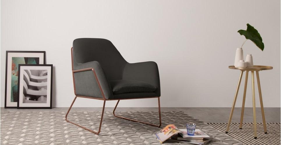 velvet armchair in home decor