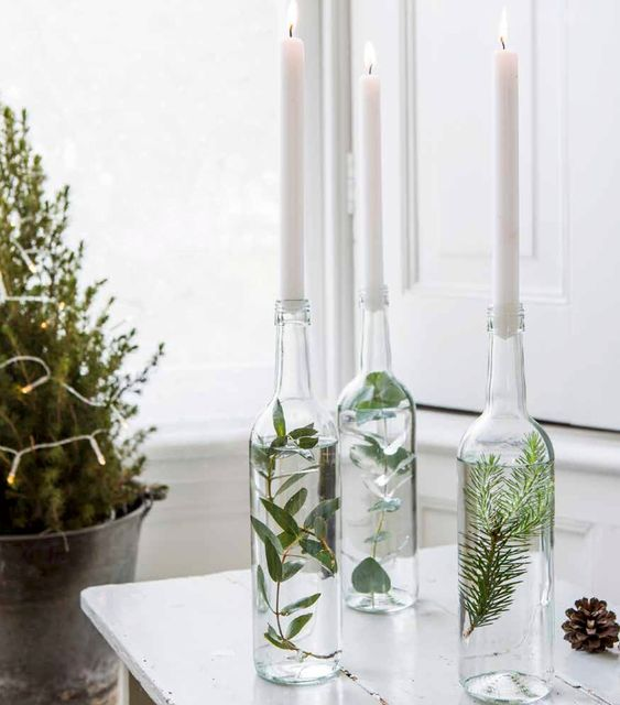 natural christmas table decoration