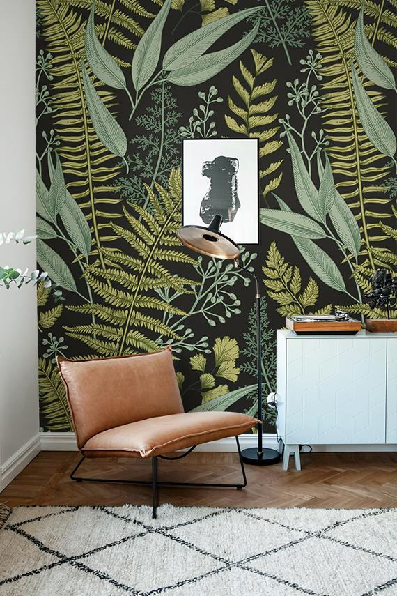 Removable wallpaper botanical