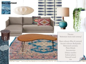 bohemian meets midcentury decor