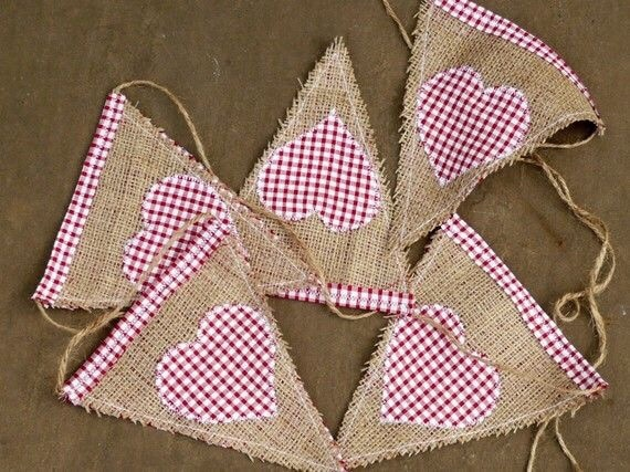 burlap bunting eco-friendly christmas