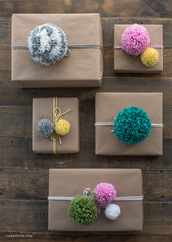 christmas craft project pom poms