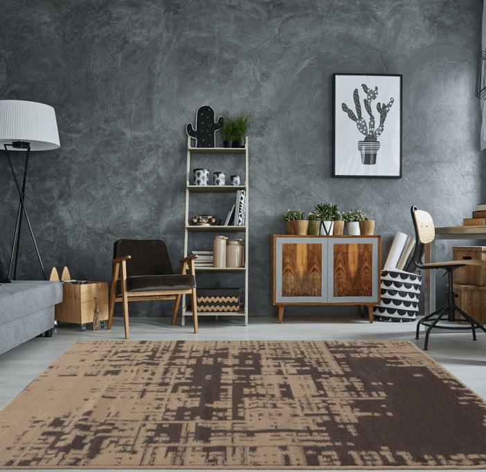 vintage distressed rug
