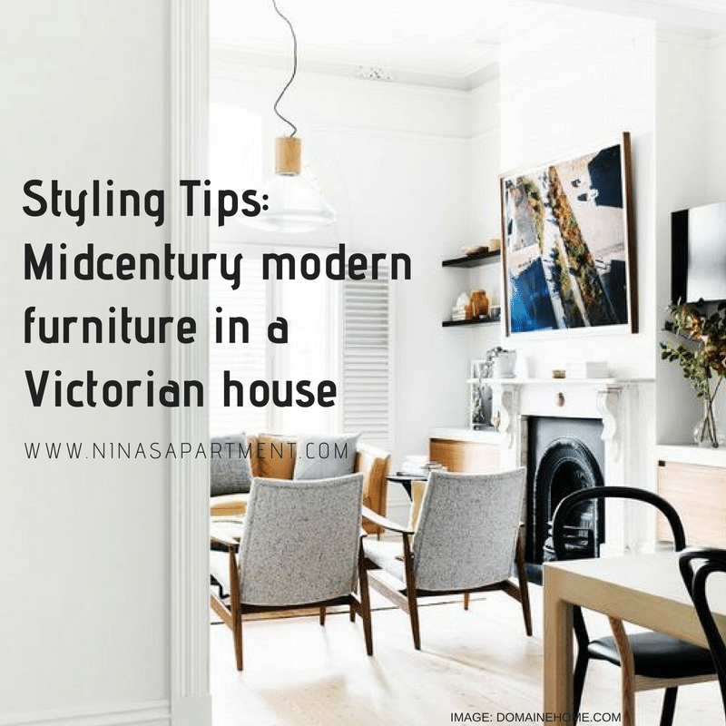 MIDCENTURY MODERN FURNITURE IN A VICTORIAN HOUSE