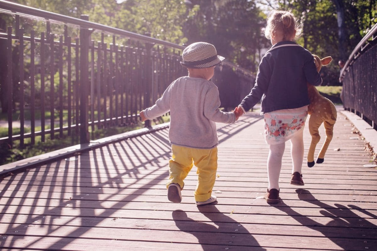 Mindful walking with children