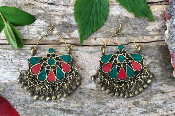 bohemian folklore earrings
