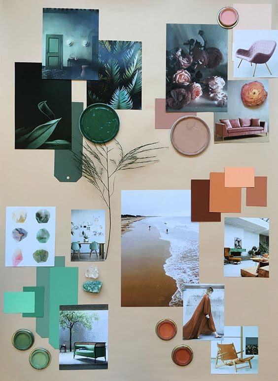 Style board on Pinterest for interior design