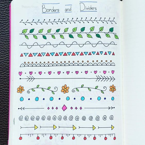 journaling borders