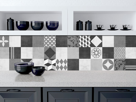 tile stickers kitchen