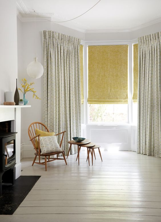 layered window treatment