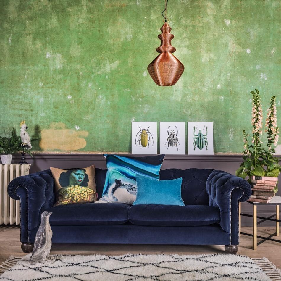 velvet sofa chesterfield in home decor