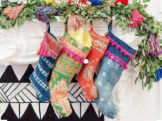 boho chic christmas stockings