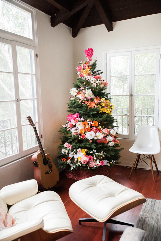 boho chic christmas tree