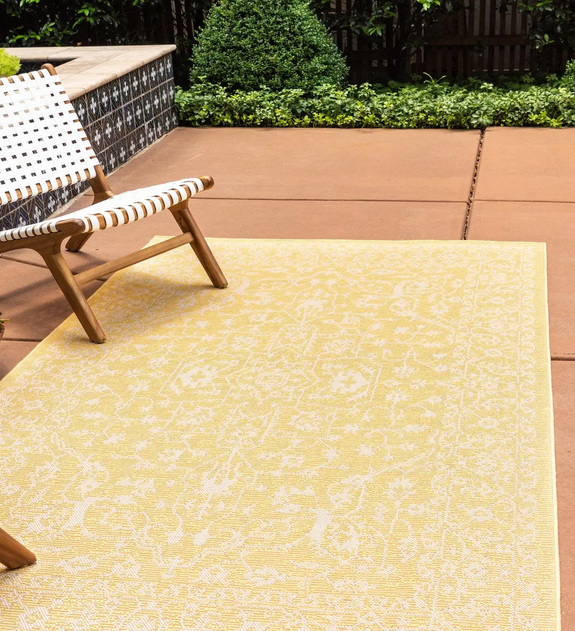 mustard yellow rug
