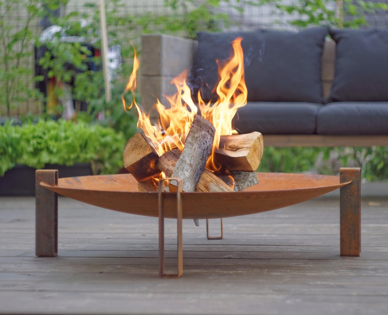 Unique firepit for garden