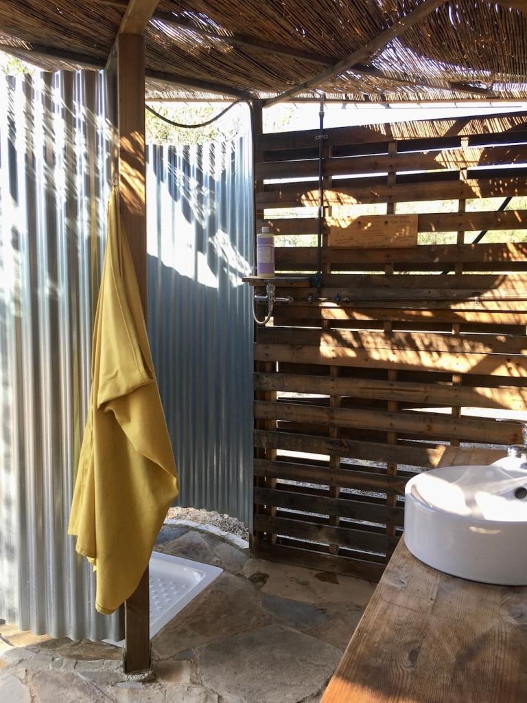 solar powered outdoor shower