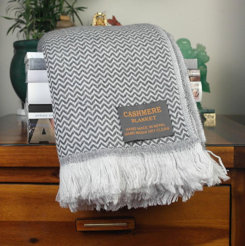 luxury cashmere blanket for at home